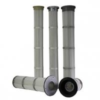 Wholesale Low Pressure Drop Pleated Filter Cartridge , Industrial Hepa Filter Careful Construction from china suppliers