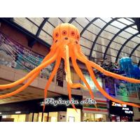 Wholesale Hanging Orange Inflatable Octopus with Long Tentacles for activities and festivals from china suppliers