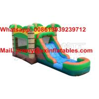 Wholesale 2017 Hot Sale Outdoor Kids Bouncy Castle,Commercial Tropical Inflatable Bounce House With Slide For Sale from china suppliers