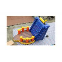 China Durable 0.55mm PVC Inflatable Floating Rock Climbing Wall For Kids on sale