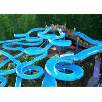 Wholesale Bright Blue Fiberglass Open Spiral Slide Adult Swimming Pool Equipment from china suppliers