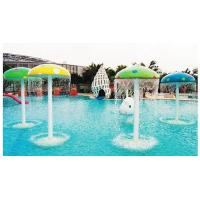 Wholesale Crazy Stimulate Amusement Water Spray Park Equipment , Mushroom Shape Water Play Equipment from china suppliers