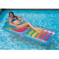 China pvc inflatable beach chair /pvc inflatable beach lounge chair/pvc advertising floating bed on sale