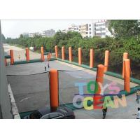 Wholesale Giant Orange Inflatable Paintball Bunkers Arena Pitch For Shooting from china suppliers