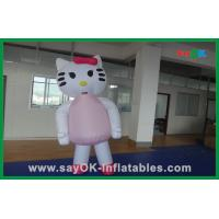 Wholesale Custom Decoration Pink Cat Inflatable Cartoon Characters For Party from china suppliers