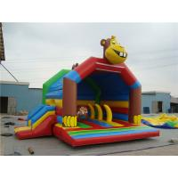 Screen Printing Monkey Bouncy Castle , 5 In1 Inflatable Jumping Castle