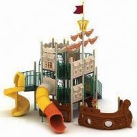Wholesale Outdoor Playground Equipment with Extra Tough Vinyl Coated and Reinforced Steel Decks from china suppliers