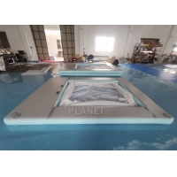 Wholesale Portable Anti-Jellyfish Inflatable Yacht Pool / Pontoon Water Pool, Inflatable Floating Ocean Sea Pool With Net from china suppliers