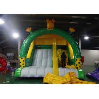 Wholesale Yellow N Green Color Giraffe Inflatable Dry Slide Creative Design Big PVC Slide from china suppliers