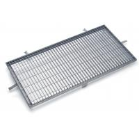 Wholesale Sidewalks Steel Grating Drain Cover Rectangle / Square Mesh High Bearing from china suppliers