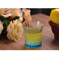 Quality Colored Embossed Whiskey Glass Cups , Recycled Glasses Tumblers for Water for sale