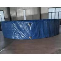Wholesale 40000L Fish Farming Tank with Steel Mesh Water Tank Non-Toxic UV Resistant, 6M(D)*1.4M(H) from china suppliers