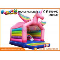Wholesale Rainbow Inflatable Bounce Houses For Children , Inflatable Unicorn Bouncing Castle from china suppliers
