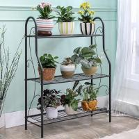 Wholesale H257 Flower Pot Metal Display Shelf Sturdy Metal Construction Black Paint Plated from china suppliers