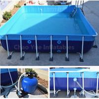 Wholesale Outdoor Metal Frame Swimming Above Ground Pool with filter from china suppliers