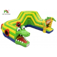 Wholesale Outdoor 6.5x5.5m Green Crocodile Inflatable Obstacle Course Inflatable Sports Games from china suppliers