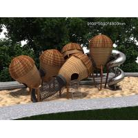Wholesale Creative Kids Outdoor Play Equipment , Childrens Wooden Playground Slide Acorn Paradise from china suppliers