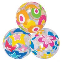 Quality 3pcs Lovely Cute Sea Creature Clear Beach Ball Lively Print Beach Ball for sale