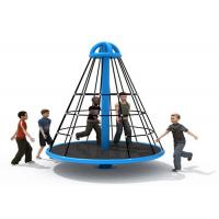 China Wear Resistant Pyramid Rope Climbing Frame / Elementary School Playground Equipment on sale