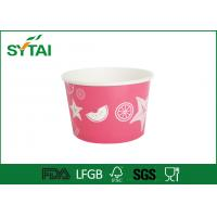 Wholesale Custom Print Ice Cream Paper Cups Disposable Salad Bowl With Lids from china suppliers