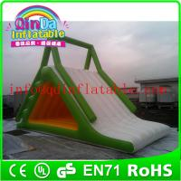 Wholesale Giant QinDa inflatable water slide for sea lake pool inflatable water pool slide from china suppliers