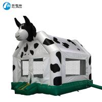 Wholesale PVC Tarpaulin Inflatable Cow Bounce House / Cow Bouncy Castle Easy Install from china suppliers
