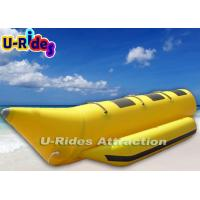 Wholesale 3 - 8 Person Single Tube Banana Boat Inflatable Rafts Digital Printing For Lake from china suppliers
