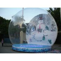 China Snow Globe Inflatable Christmas Decoration , Blow Up Snow Globe Elegant Design on sale