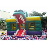 Wholesale 0.55mm PVC Tarpaulin Crocodile Inflatable Air Bouncer Alligator Bounce House With HD Cartoon Printing from china suppliers