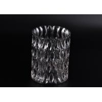 Wholesale Crystal Round Sunken Surface Glass Candle Jar Glass Candlestick Holders from china suppliers