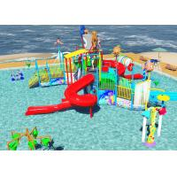 Wholesale Family Slide Theme Park Design Spiral / Straight Fun Interactive Water Rides from china suppliers