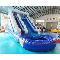 Wholesale Mini Bouncer House 1000D Outdoor Inflatable Water Slides With Pool from china suppliers