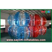 Wholesale Red And Blue PVC / TPU Bumper Ball Bubble Football For Adult / Children Playing from china suppliers