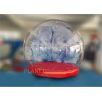 Wholesale 0.5mm PVC Trapaulin Outdoor Inflatable Snow Globe For Amusement Park from china suppliers