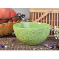 Wholesale Light Green Embossed Print Ceramic Candle Making Bowl For Home Decoration from china suppliers