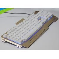 Buy cheap High End Light Up Mechanical Gaming Keyboard , Slim Metal Mechanical Keyboard from wholesalers