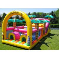 Quality Commercial Grade Inflatable Obstacle Race Course Bounce House With Repair Kit for sale