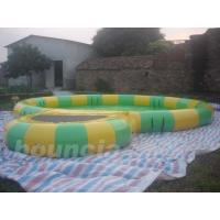 Wholesale Round Inflatable Water Pool With Platform Foe Water Roller from china suppliers