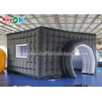 Wholesale Black Inflatable Photo Booth With 17 Color Changing Lights / Window from china suppliers