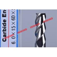 Wholesale HRC50 Aluminum End Mill Cutter / Hss End Mill Bright Surface 6mm 8mm 3 Flute from china suppliers