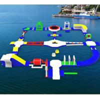 Wholesale PVC Giant Inflatable Water Park For Kids , Rental Inflatable Games Sport Park from china suppliers