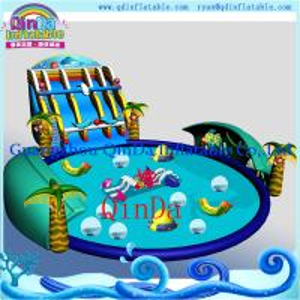 Wholesale Guanghou QinDa Big Swimming Pool, Big Pool, PVC Pool, Gardon Pool, Water Game Park from china suppliers