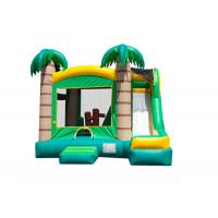 Wholesale Tropical Inflatable Bouncer Combo Amusement Park Fireproof 19 X 18 X 16m Customized from china suppliers