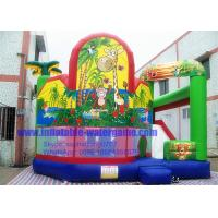 Wholesale 18OZ PVC Jungle Inflatable Bouncy Castle Rental , Kids Bouncy Castle Hire from china suppliers