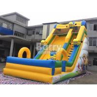 China Commercial Inflatable Bounce Slide Outdoor Small Minions Inflatable Slide For Kids on sale