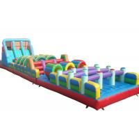 Wholesale Giant Bouncer Adults Inflatable Obstacle Courses Double And Quadruple Stitching from china suppliers