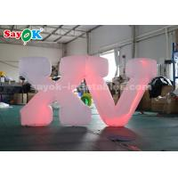 Wholesale 1.2m High Inflatable Lighting Decoration Inflatable LED Letter for Decoration from china suppliers