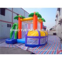 Wholesale Tropical Inflatable Bouncy Castle With Slide Pool , Inflatable Jump House For Amusement Park from china suppliers