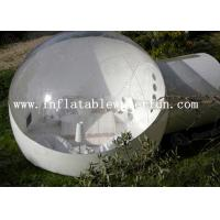 Wholesale Semi Transparent Inflatable Bubble Tent With Two White Tunnel for hotel from china suppliers