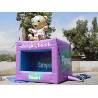 Wholesale Portable Purple Square Kiosks With Digital Printing , Advertising Inflatables from china suppliers